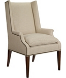 Martin Host Chair with Loose Cushion and Arms -Mahogany