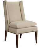 Martin Host Chair with Loose Cushion w/out Arms - Mahogany