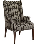 Martin Host Chair with Tight Seat and Arms - Mahogany