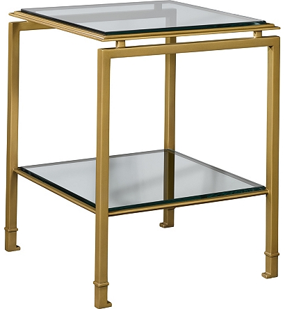 Montpelier Accent Table Base Glass Top Shelf From The Suzanne