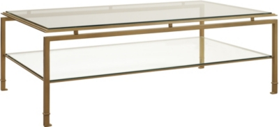 Montpelier Cocktail Table With Clear Glass Top U0026 Shelf