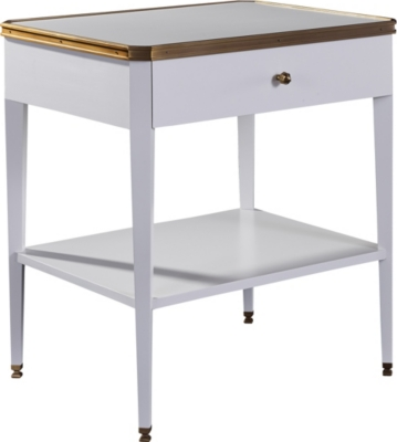 Austell Side Table With Drawer With Wood Top