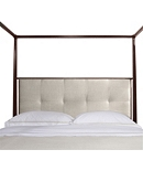Artisan Poster Bed (California King) with Low Biscuit-Stitched Uph. Headboard