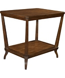 Rye Rectangular Side Table - Mahogany