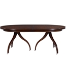 Ingold Oval Expansion Top - Mahogany & 185-11 Ingold 3-Leg Pedestal Base