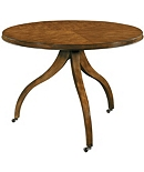 Ingold Center Table Base & Top - Mahogany