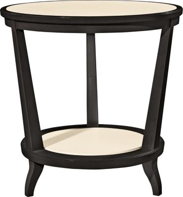 Rye Round Side Table   Mahogany