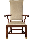 Sebastian Upholstered Back Arm Chair