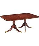 Baltimore Double Pedestal Dining Table (Top) & Fluted Saber Pedestals