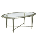 Bristol Oval Cocktail Table-Silver