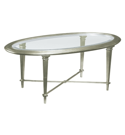 Bristol Oval Cocktail Table Silver From The James River Collection By