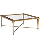 Bristol Square Coffee Table - Gold