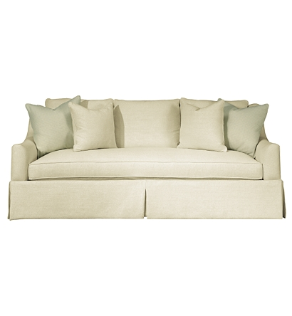 Sutton Skirted Sofa From The Upholstery