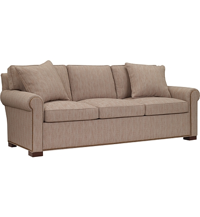 Silhouettes Raised Panel Lawson Arm Sleep Sofa From The
