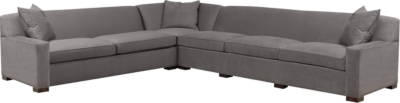 Silhouettes Made To Measure Right Arm Facing Wide Square Arm Sofa