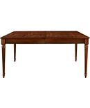 Gustav Rectangular Table with Plain Veneer Apron