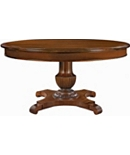 Gustav Round Dining Table with Plain Veneer Apron