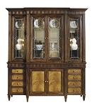 Drake Cabinet Deck with Leaded Glass Doors & Base