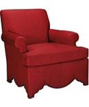 Allen Chair with Scalloped Base