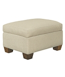 MacDonald Exposed Leg Ottoman - Made To Measure
