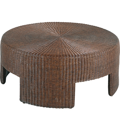 48 Wicker Round Coffee Table From The Archive Collection By Hickory