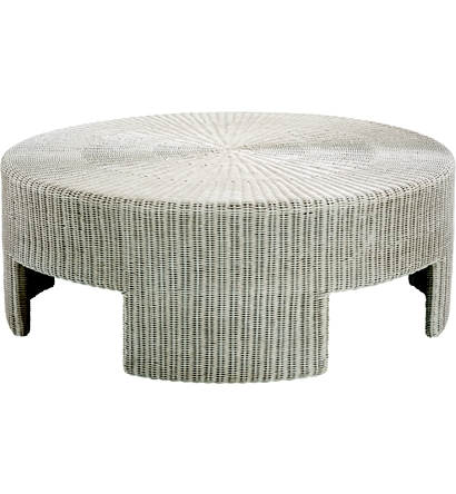 48 Wicker Round Coffee Table From The Archive Collection By Hickory Chair Furniture Co