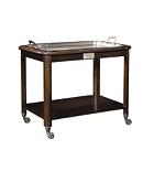Hotel Trolley Serving Cart with Silver Tray