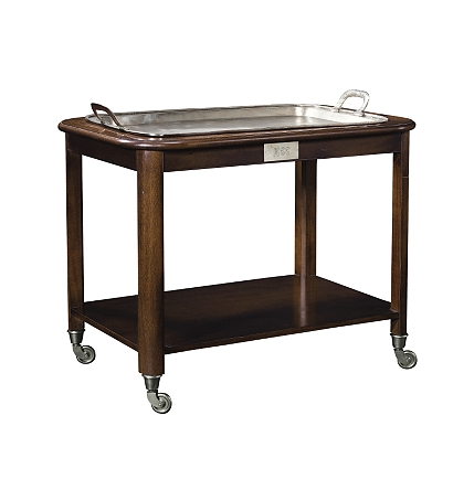 hotel trolley serving cart with silver tray - Dining Room Serving Carts
