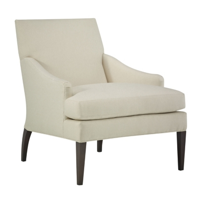 Maud Lounge Chair With Tapered Legs