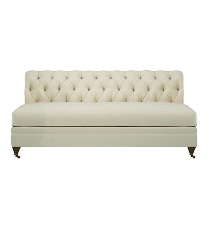Marquette Made To Measure Tufted Armless Sofa From The