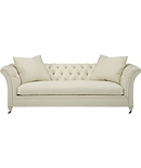 Marquette Tufted Exposed Leg Sofa