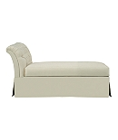 Marquette Made To Measure Tufted Dressmaker Armless Chaise
