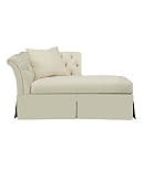 Marquette Tufted Dressmaker Right-Arm Facing Chaise