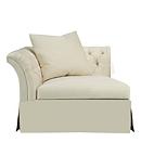 Marquette Tufted Dressmaker Corner Chair
