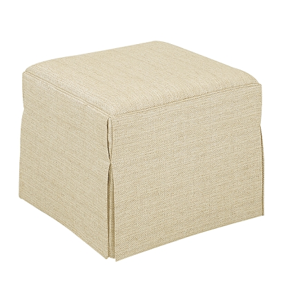 Cocktail Ottoman from the Upholstery collection by Hickory Chair – Upholstered Chair with Ottoman
