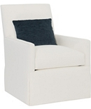 Box Back Bergere Skirted Chair