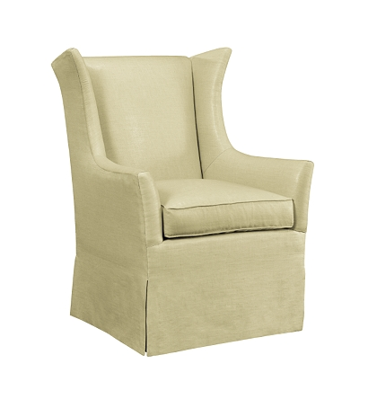 jackson skirted wing chair from the mariette himes gomez collection