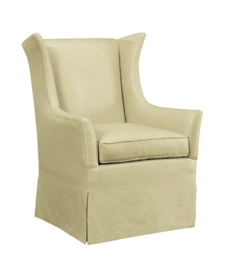 Superb Jackson Skirted Wing Chair