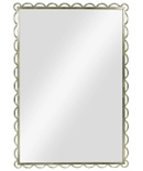 Scallop Mirror-Silver Leaf
