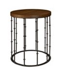 Astor Side Table with Wood Top