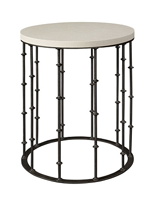 astor side table with stone top from the hartwood collection by