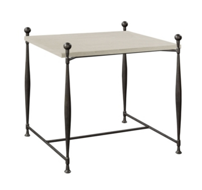 Ionia Side Table With Square Stone Top