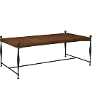 Ionia Coffee Table with Wood Top