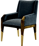 Tate Arm Chair with Gilded Legs