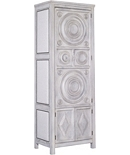 Frederik Tall Storage Cabinet, Right Opening, Upholstered Sides