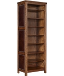 Frederik Tall Storage Cabinet, Open, Upholstered Sides