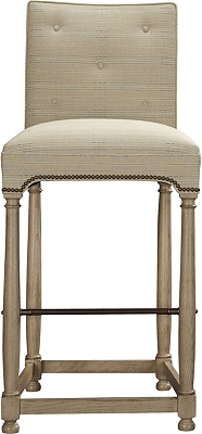 Marit Bar Stool from the Atelier collection by Hickory Chair