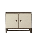 Remy Two Door Upholstered Cabinet with Remy Base