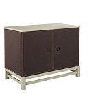 Remy Two Door Upholstered Cabinet in Group Three Fabrics