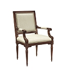 Louis XVI Square Back Arm Chair